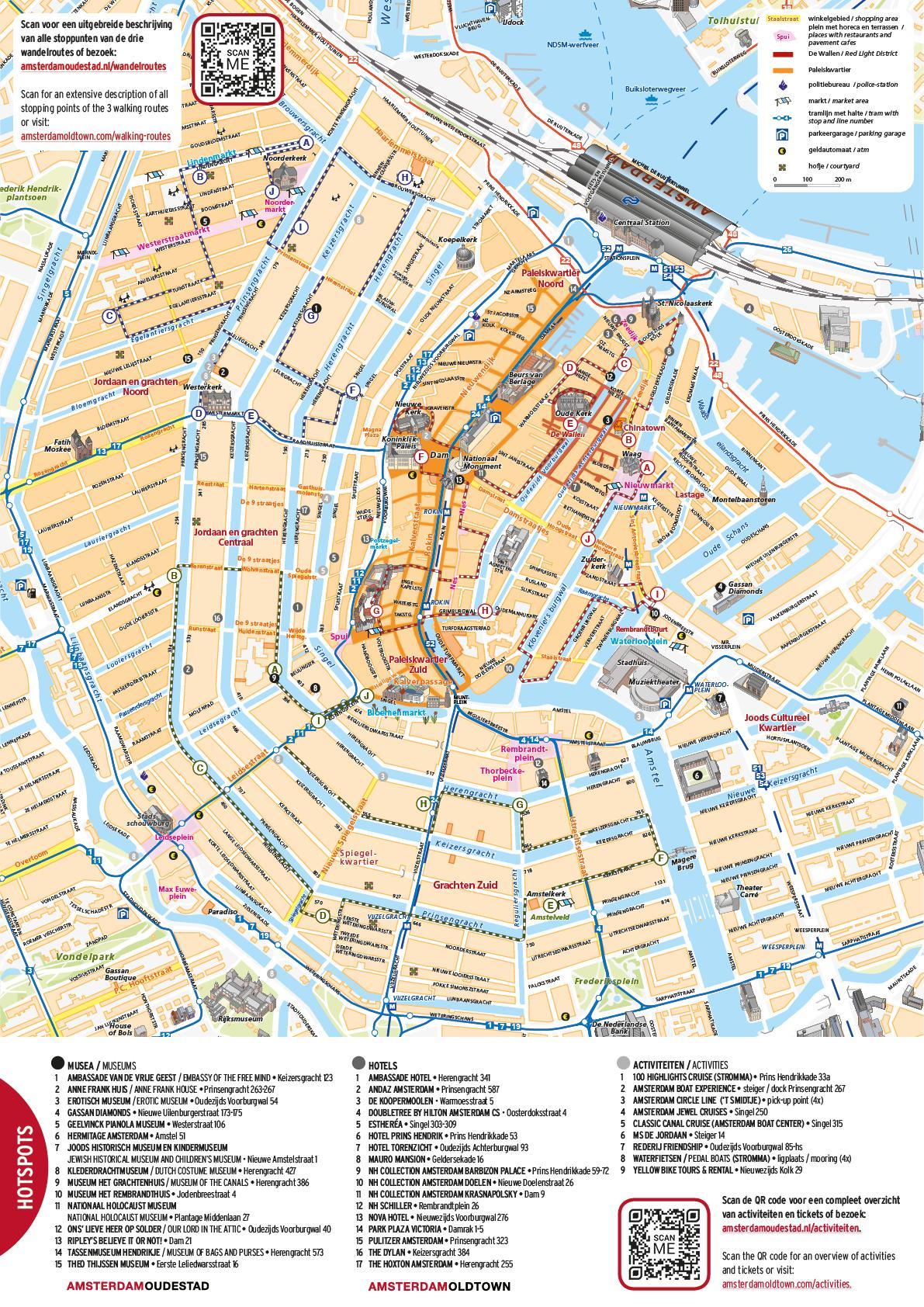 Amsterdam Centrum Kart Kart Over Amsterdam Centrum Nederland