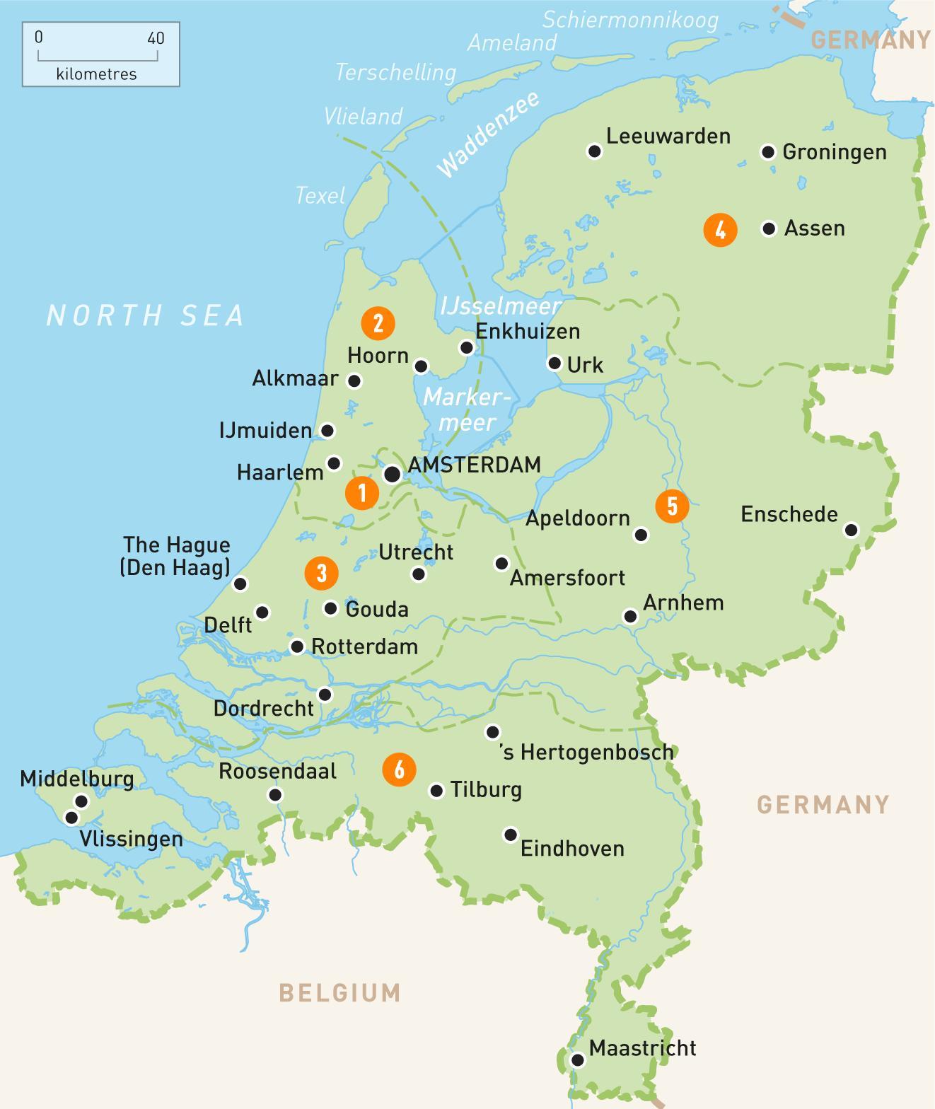 Kart Over Amsterdam Nederland Omradet Kart Over Amsterdam Og